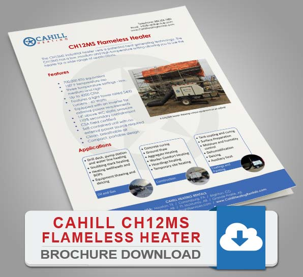 Cahill CH15HS Portable Heating Brochure Download