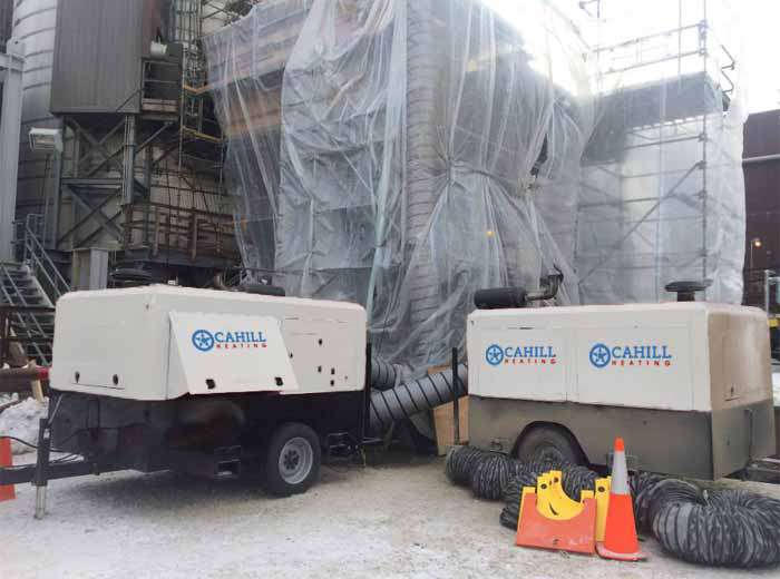Twin Portable Industrial Heaters